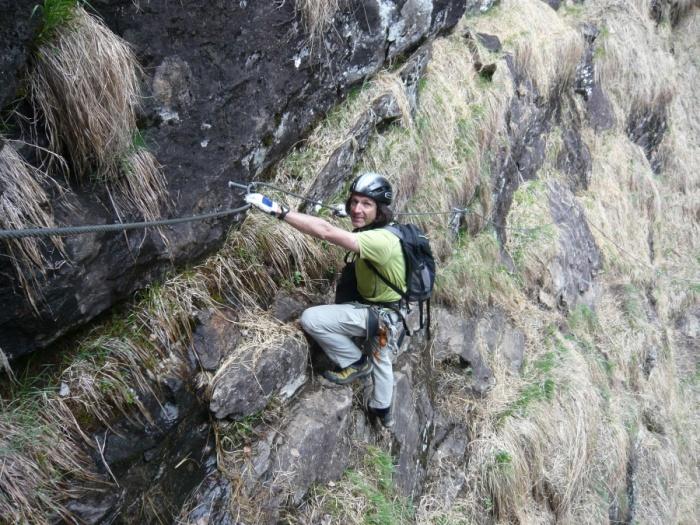 Klettersteig Nasenwand : Csaba at klettersteigguide tirol naturpark klettersteig