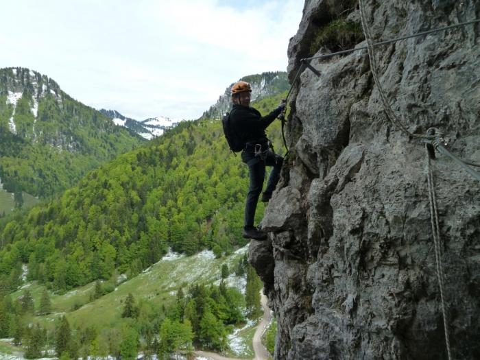 Klettersteig Ottenalm : Csaba at klettersteigguide tirol bergkameradensteig ottenalm