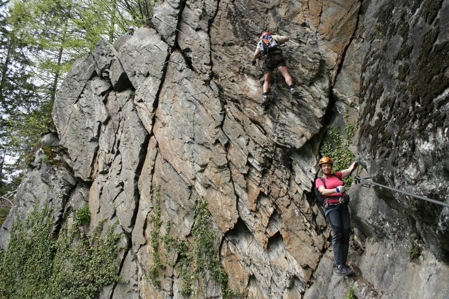 Klettersteig Huterlaner : Csaba at klettersteigguide tirol klettersteig huterlaner