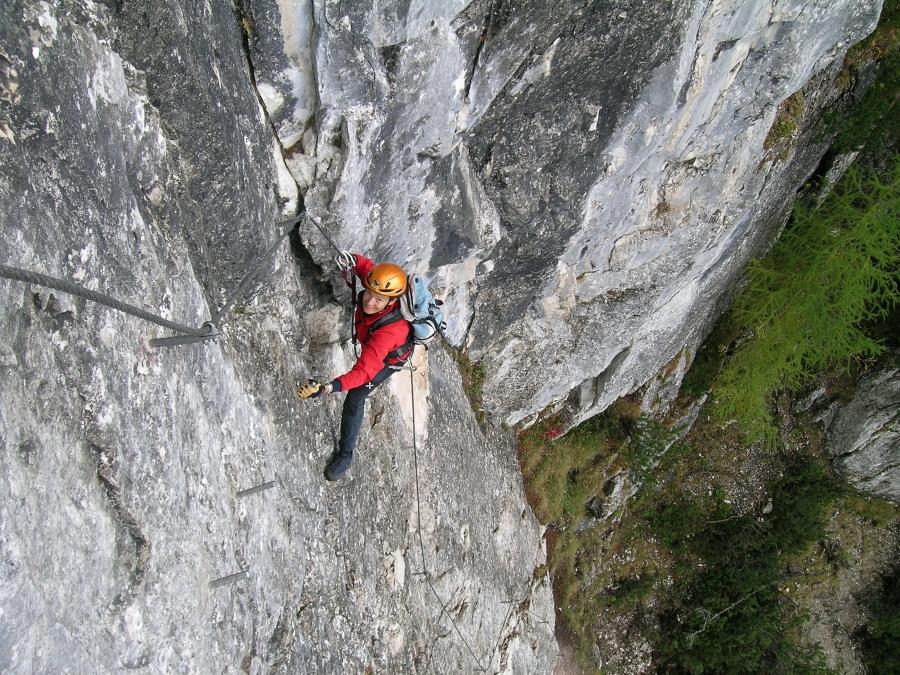 Klettersteig Ottenalm : Csaba at klettersteigguide tirol seeben klettersteig