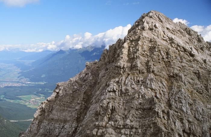 Klettersteig Wankspitze : Csaba at klettersteigguide tirol wankspitze nordgrat