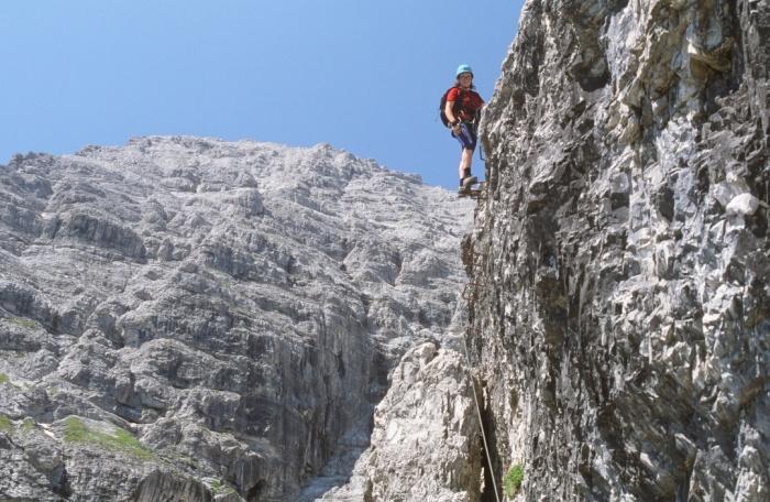 Klettersteig Ilmspitze : Csaba.at klettersteigguide tirol 42 schlicker klettersteig