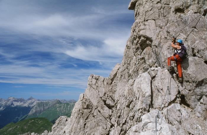 Klettersteig Nasenwand : Csaba at klettersteigguide tirol imster klettersteig